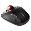 <strong>Kensington®</strong><br />Orbit Wireless Mobile Trackball, 2.4 GHz Frequency/30 ft Wireless Range, Left/Right Hand Use, Black/Red