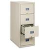 FireKing® Patriot Insulated Four-Drawer Fire File, 17-3/4w x 31-5/8d x 52-3/4h, Parchment FIR4P1831CPA