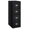 FireKing® Patriot Insulated Four-Drawer Fire File, 17-3/4w x 25d x 52-3/4h, Black FIR4P1825CBL
