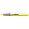 BIC® Brite Liner Grip Pocket Highlighter, Chisel Tip, Fluorescent Yellow, Dozen BICGBL11YW