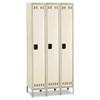 Single-Tier, Three-Column Locker, 36w x 18d x 78h, Two-Tone Tan
