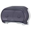 San Jamar® VersaTwin Tissue Dispenser, 8 x 5 3/4 x 12 3/4, Transparent Black Pearl SJMR3600TBK