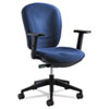 "Safco Rae Ergonomic Task Chair - Blue Seat - 5-star Base - 19.50"" Seat Width x 18.50"" Seat Depth - 2 SAF7205BU"