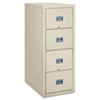 FireKing® Patriot Insulated Four-Drawer Fire File, 20-3/4w x 31-5/8d x 52-3/4h, Parchment FIR4P2131CPA