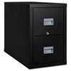 FireKing® Patriot Insulated Two-Drawer Fire File, 17-3/4w x 31-5/8d x 27-3/4h, Black FIR2P1831CBL