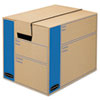 Bankers Box® SmoothMove Prime Small Moving Boxes, 16l x 12w x 12h, Kraft/Blue, 10/Carton FEL0062701