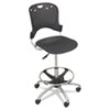 BALT® Circulation Stool, Polypropylene Back/Seat, Black BLT34643