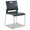 Alera® Alera Continental Series Perforated Back Stacking Chairs, Charcoal Gray, 4/CT ALESC6546