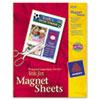 Avery® Printable Inkjet Magnet Sheets, 8 1/2 x 11, White, 5/Pack AVE3270