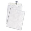 White Leather Tyvek Mailer, 9 x 12, White, 100/Box