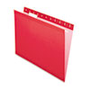 Pendaflex® Reinforced Hanging Folders, 1/5 Tab, Letter, Red, 25/Box PFX415215RED