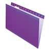 Reinforced Hanging Folders, 1/5 Tab, Legal, Violet, 25/Box