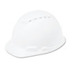 3M H-700 Series Hard Hat with 4 Point Ratchet Suspension, Vented, White MMMH701V