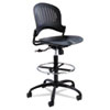 Safco® Zippi Plastic Extended-Height Chair, Black SAF3386BL