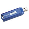 Verbatim® Classic USB 2.0 Flash Drive, 2GB, Blue VER97086