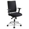 Safco Tez Manager Chair - Fabric Black Seat - Black Back - Steel Frame - 5-star Base - Nylon - 19.25 SAF7031BL
