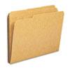 Smead® Kraft File Folders, 1/3 Cut, Reinforced Top Tab, Letter, Kraft, 100/Box SMD10734