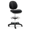 Alera® Alera Interval Series Swivel Task Stool, PVC-Free Faux Leather, Black ALEIN4616
