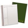Ampad® Gold Fibre Wirebound Writing Pad w/Cover, 9 1/4 x 7 1/4, White, Green Cover TOP20816