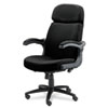 Mayline® Big & Tall Series Executive Pivot-Arm Chair, Acrylic/Poly Blend Fabric, Black MLN6446AG2113