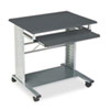 "<strong>Safco®</strong><br />Empire Mobile PC Cart, 29.75"" x 23.5"" x 29.75"", Anthracite/Silver"