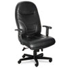 Mayline® Comfort Series Executive High-Back Chair, Black Leather MLN9413AGBLT