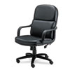 "Mayline Big and Tall Executive Office Chair - Black - Leather - 27"" Width x 27"" Depth x 48"" Height MLN1801AGBLT"