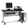 Mayline® Eastwinds Mobile Work Table, 57w x 23-1/2d x 29h, Anthracite MLN8100TDANT
