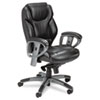 Mayline Ultimo 300 Series UL330M Mid Back Chair - Leather Black Seat - Slate Frame - 5-star Base - 2 MLNUL330MBLK