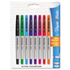 Paper Mate® Flair Porous Point Stick Liquid Pen, Assorted Ink, Ultra Fine, 8/St PAP62145