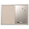 <strong>MasterVision®</strong><br />Combo Bulletin Board, Bulletin/Dry Erase, 24X18, Gray Frame