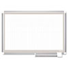 <strong>MasterVision®</strong><br />All Purpose Porcelain Dry Erase Planning Board, 1 x 1 Grid, 36 x 24, Aluminum