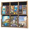 Safco® Expose Adj Magazine/Pamphlet Six Pocket Display, 29-3/4w x 26-1/4h, Medium Oak SAF5703MO