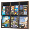 Safco® Expose Adj Magazine/Pamphlet Six Pocket Display, 29-3/4w x 26-1/4h, Mahogany SAF5703MH