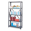 Commercial Steel Shelving Unit, Five-Shelf, 36w x 24d x 75h, Dark Gray