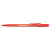 Paper Mate® Write Bros Stick Ballpoint Pen, Red Ink, 0.8mm, Dozen PAP3371131
