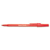 Paper Mate® Write Bros Stick Ballpoint Pen, Red Ink, 1mm, Dozen PAP3321131