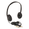 <strong>AmpliVox®</strong><br />Personal Multimedia Stereo Headphones with Volume Control, Black