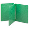 Smead® Side Opening Pressboard Report Cover, Prong Fastener, Letter, Green SMD81451