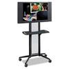 Safco® Impromptu Flat Panel TV Cart, 38w x 20d x 65-1/2h, Black SAF8926BL