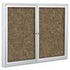 "Best-Rite® Enclosed Rubber-Tak Bulletin Cabinet, 48""w x 36""h, Aluminum Frame BLT94PSCO95C"