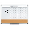 MasterVision™ 3-in-1 Calendar Planner Dry Erase Board, 24 x 18, Aluminum Frame BVCMB3507186