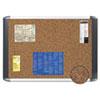 MasterVision™ Tech Cork Board, 24x36, Silver/Black Frame BVCMVI030501