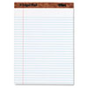 TOPS® The Legal Pad Ruled Perforated Pads, 8 1/2 x 11 3/4, White, 50 Sheets TOP75330