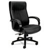 Basyx by HON VL680 Series Big & Tall Leather Chair, Supports up to 450 lbs., Black BSXVL685SB11