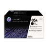 <strong>HP</strong><br />HP 05A, (CE505D) 2-Pack Black Original LaserJet Toner Cartridges