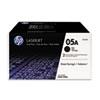 HP 05A, (CE505D) 2-pack Black Original LaserJet Toner Cartridges
