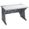 Iceberg Aspira Modular Desk, Resin, 48w x 28d x 30h, Charcoal ICE92302
