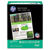 HP Office Recycled Paper, 92 Brightness, 20lb, 8-1/2 x 11, White, 5000 Shts/Ctn HEW112100