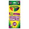 Crayola® Long Barrel Colored Woodcase Pencils, 3.3 mm, 24 Assorted Colors/Set CYO684024